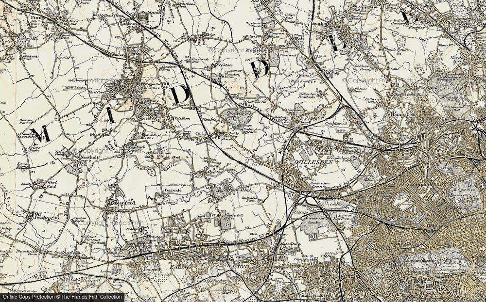 Old Map of Tokyngton, 1897-1909 in 1897-1909