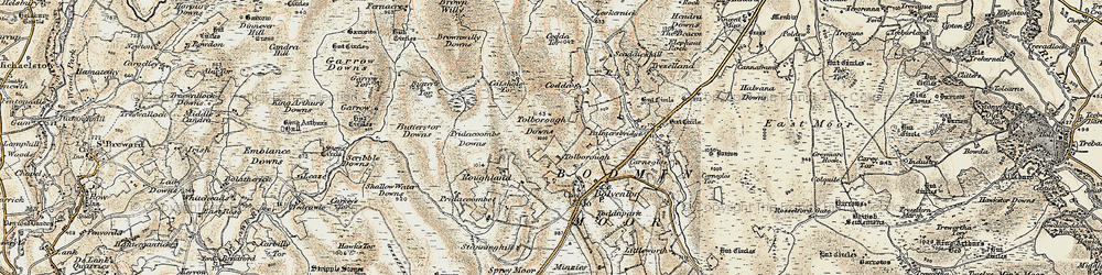 Old map of Tolborough in 1900