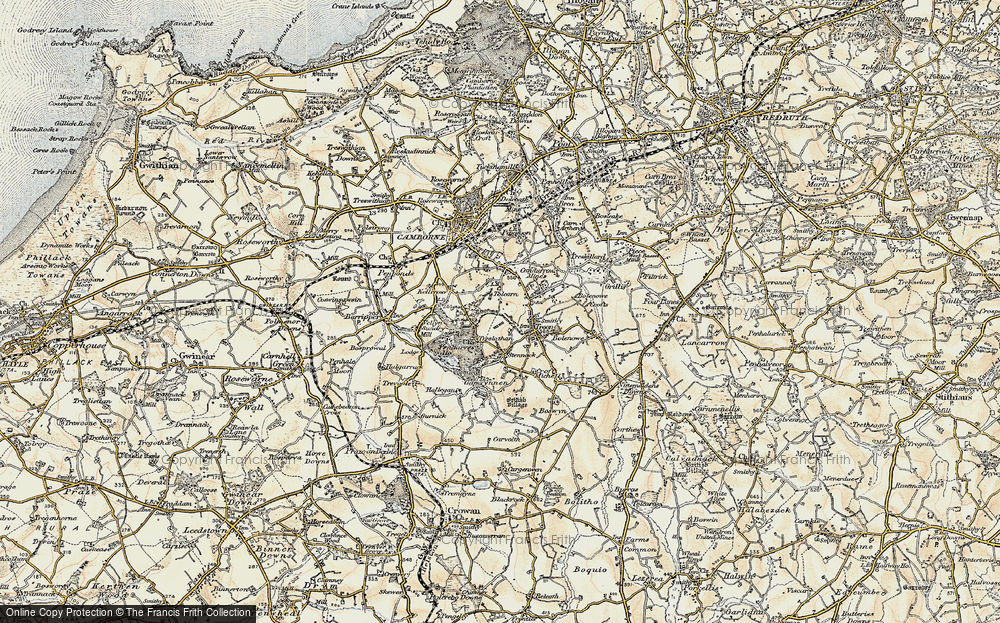 Old Map of Tolcarne, 1900 in 1900
