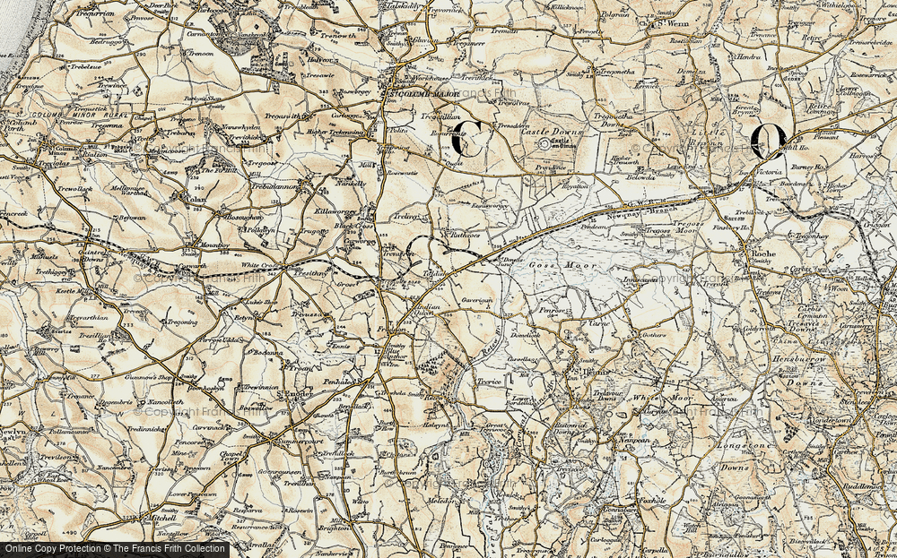 Old Map of Toldish, 1900 in 1900