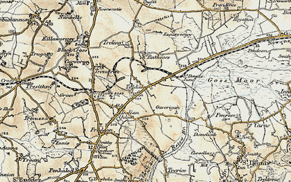 Old map of Toldish in 1900