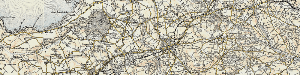 Old map of Tolgus Mount in 1900