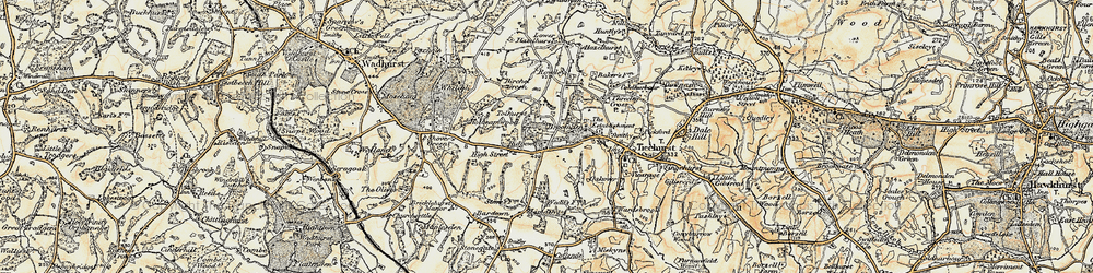 Old map of Ticehurst Ho in 1898