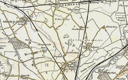 Old map of Toll Bar in 1903