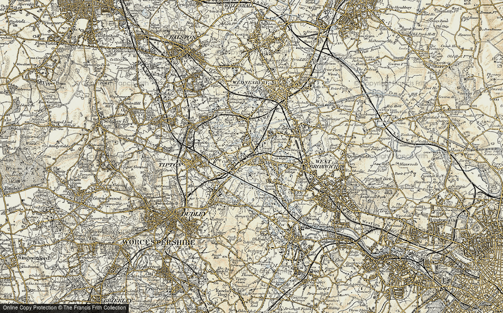 Old Map of Toll End, 1902 in 1902