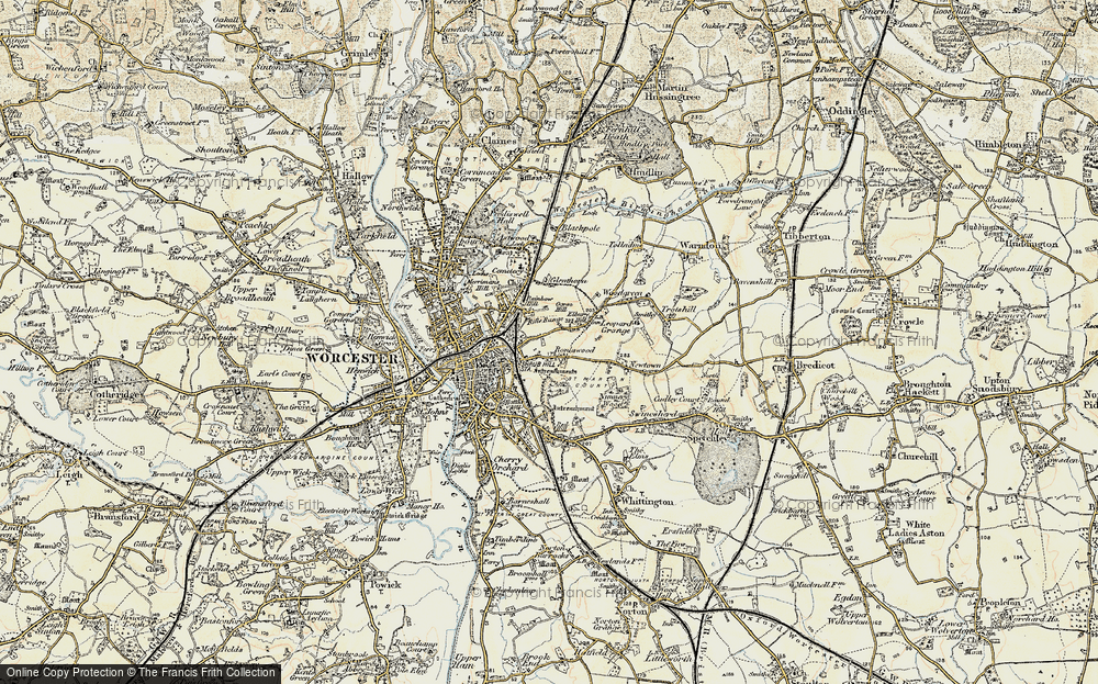 Old Map of Tolladine, 1899-1902 in 1899-1902