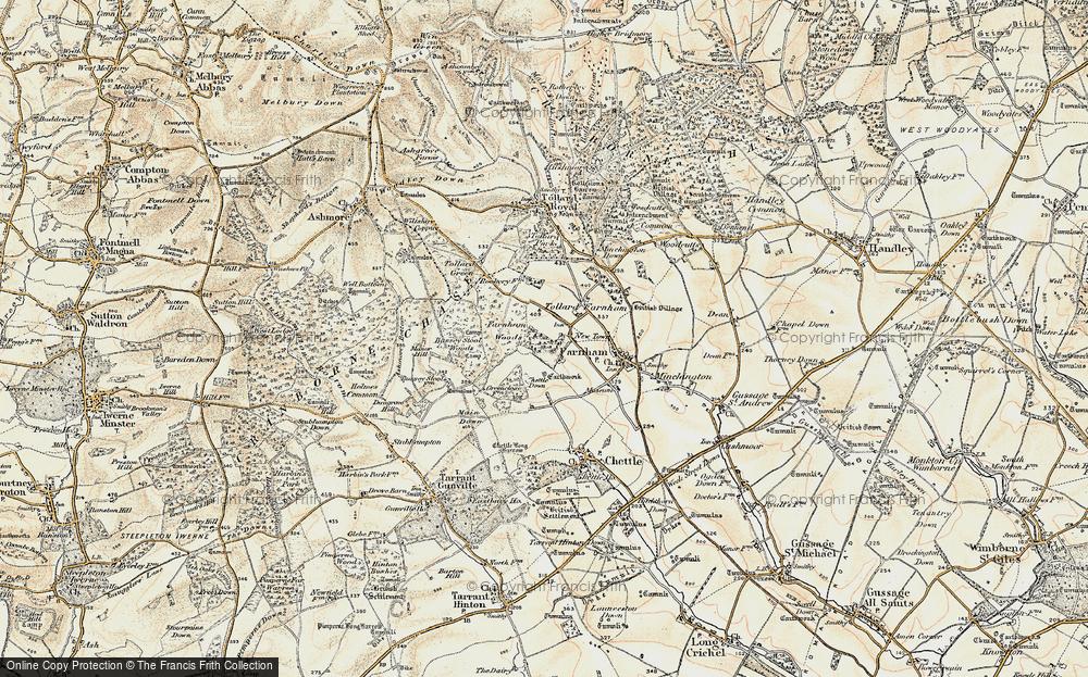 Old Map of Tollard Farnham, 1897-1909 in 1897-1909