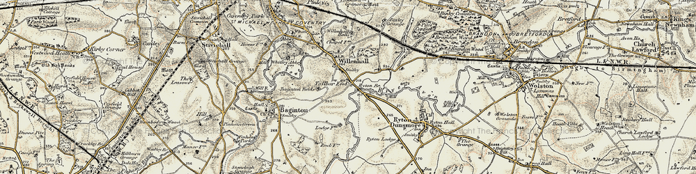 Old map of Tollbar End in 1901-1902