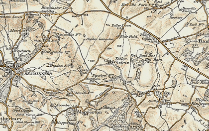 Old map of Westcombe Coppice in 1899
