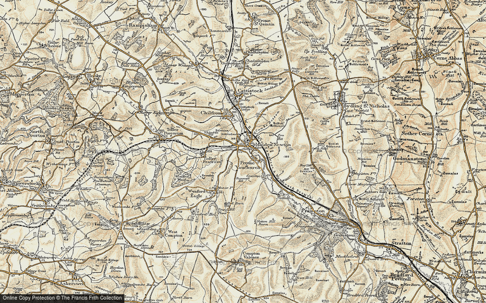 Old Map of Tollerford, 1899 in 1899