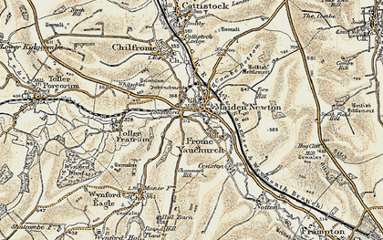 Old map of Tollerford in 1899
