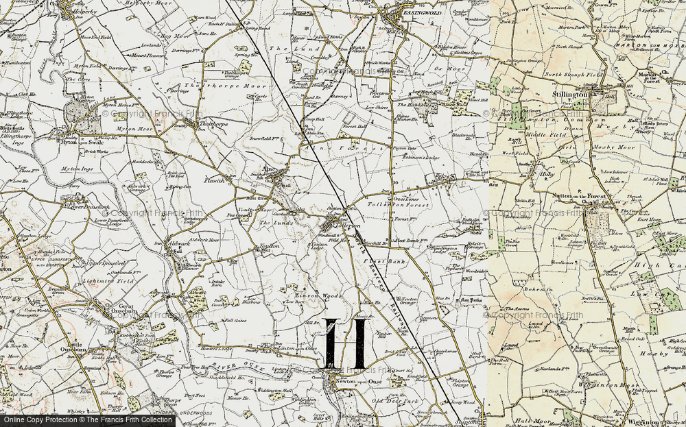 Old Map of Tollerton, 1903-1904 in 1903-1904