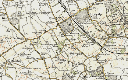 Old map of Tollesby in 1903-1904