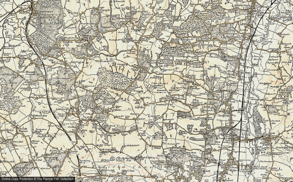 Old Map of Tolmers, 1897-1898 in 1897-1898