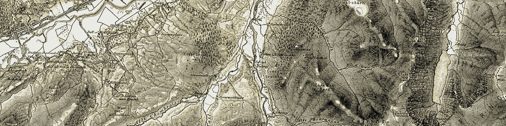 Old map of Tolvah in 1908