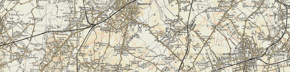 Old map of Tolworth in 1897-1909