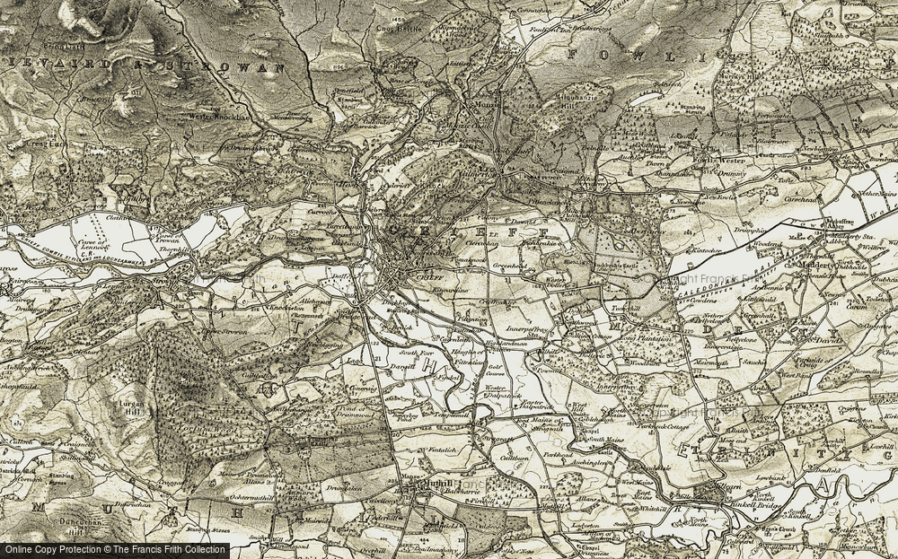 Old Map of Tomaknock, 1906-1907 in 1906-1907
