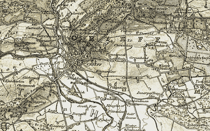 Old map of Tomaknock in 1906-1907