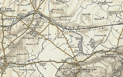 Old map of Tomlow in 1898-1902