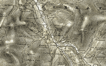 Old map of Wester Claggan in 1908-1911