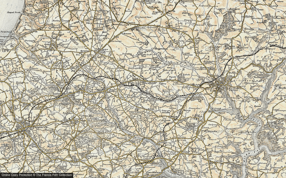 Old Map of Tomperrow, 1900 in 1900