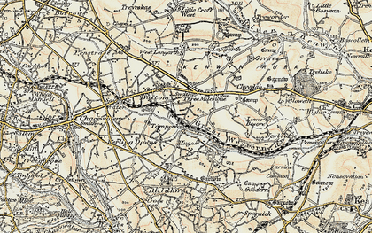 Old map of Tomperrow in 1900