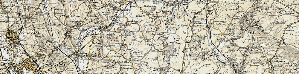 Old map of Tompkin in 1902