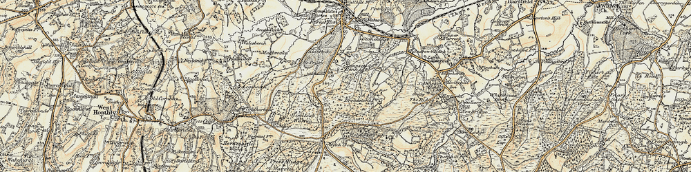 Old map of Tompset's Bank in 1898