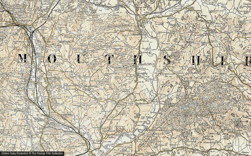Old Map of Ton, 1899-1900 in 1899-1900