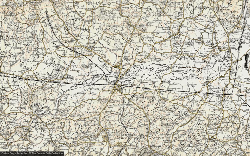 Old Map of Tonbridge, 1897-1898 in 1897-1898