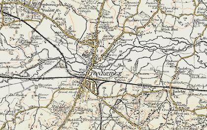 Old map of Tonbridge in 1897-1898