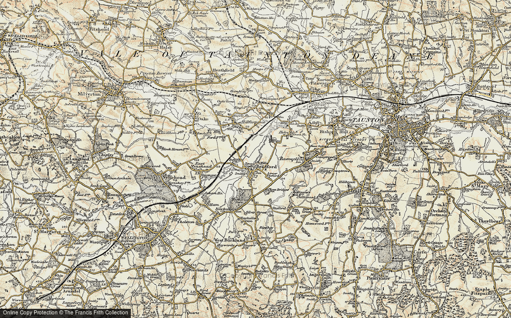 Old Map of Tone Green, 1898-1900 in 1898-1900