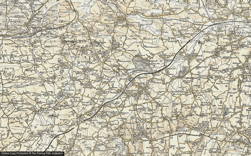 Old Map of Tonedale, 1898-1900 in 1898-1900