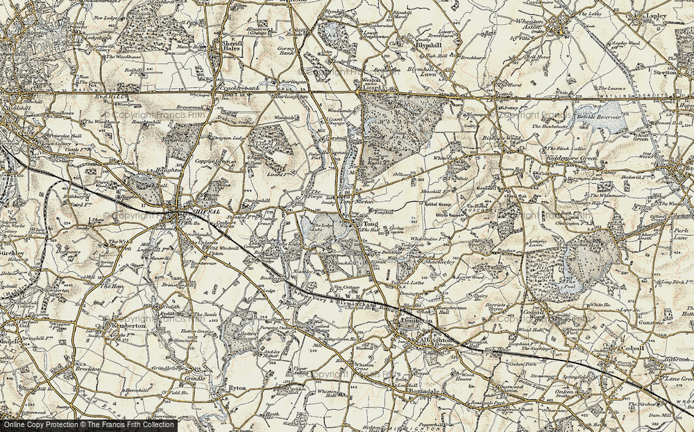 Old Map of Tong, 1902 in 1902