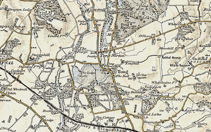 Old map of Tong in 1902