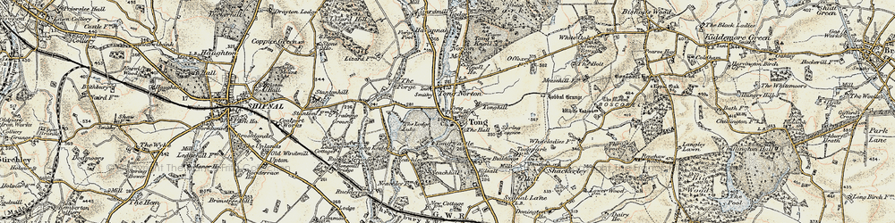 Old map of Tong Lodge in 1902