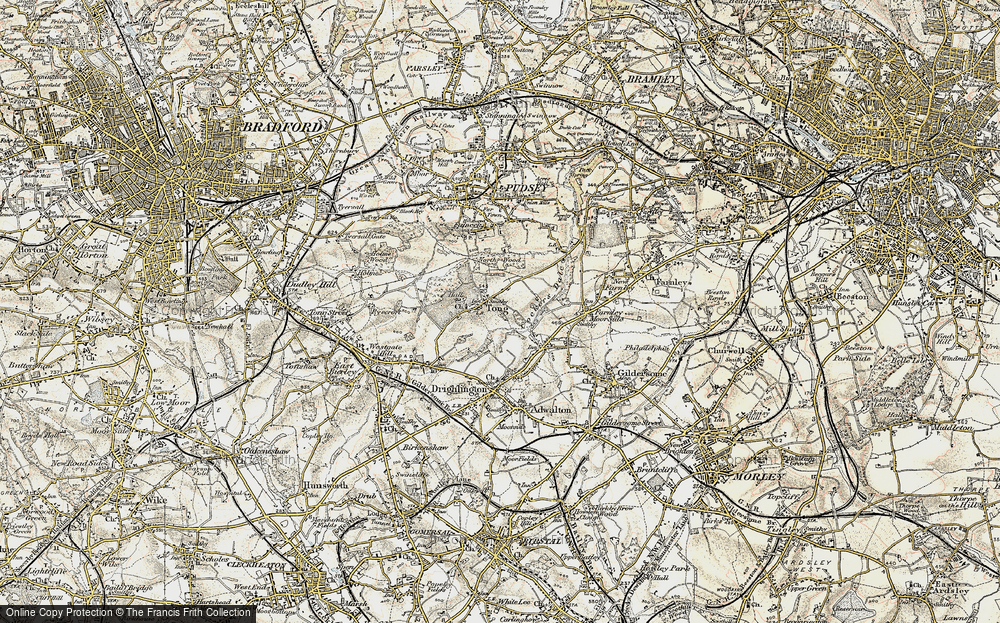Old Map of Tong, 1903 in 1903