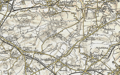 Old map of Leeds Country Way in 1903