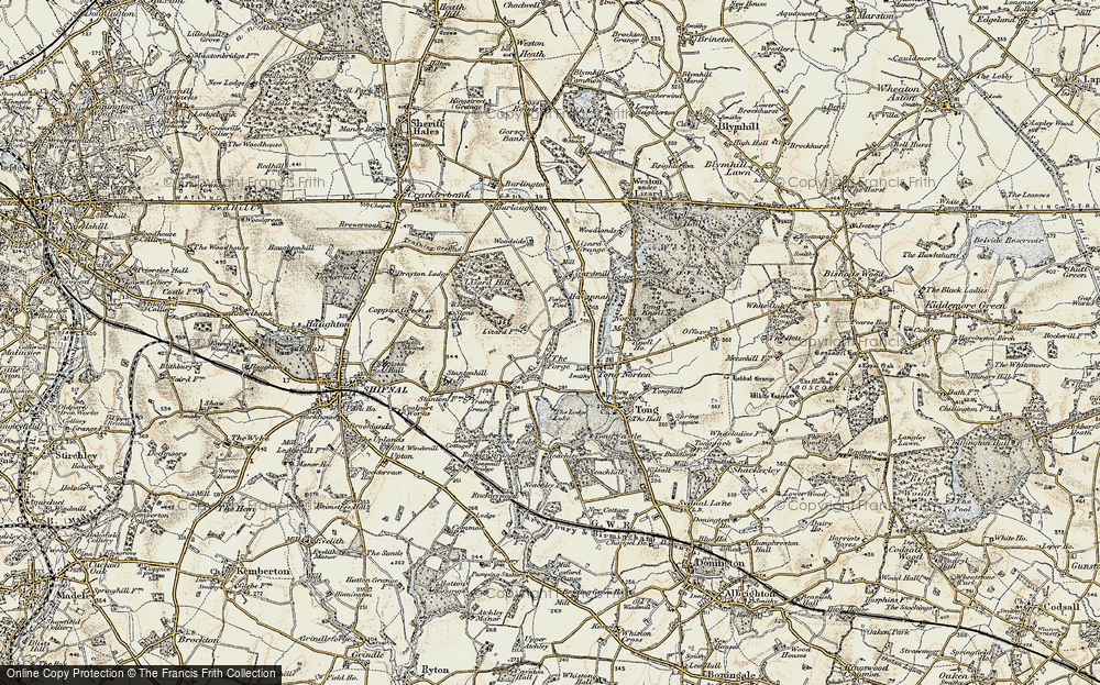 Old Map of Tong Forge, 1902 in 1902
