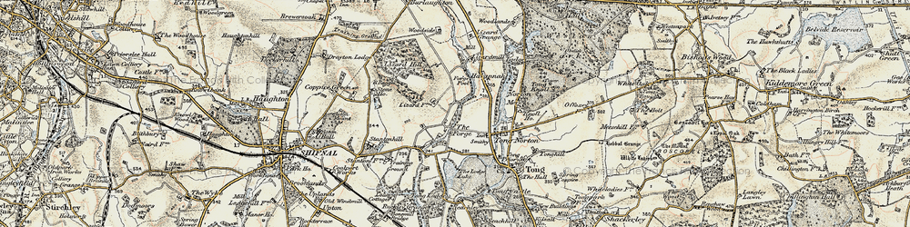 Old map of Tong Forge in 1902