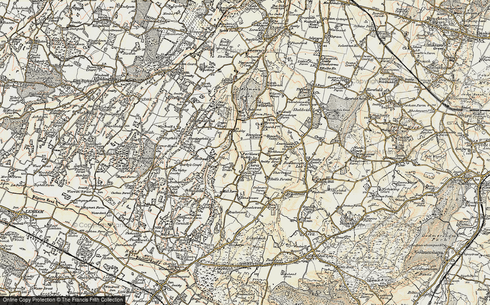Old Map of Tong Green, 1897-1898 in 1897-1898