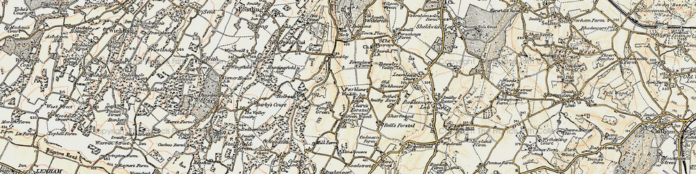 Old map of Tong Green in 1897-1898