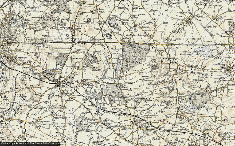 Old Map of Tong Norton, 1902 in 1902