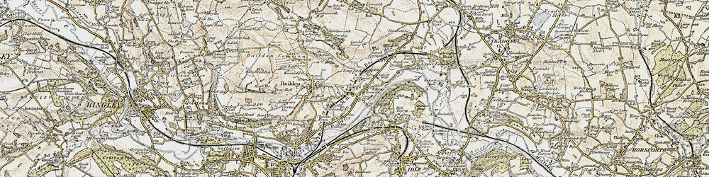 Old map of Tong Park in 1903-1904