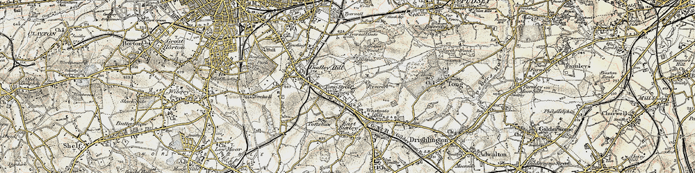 Old map of Tong Street in 1903