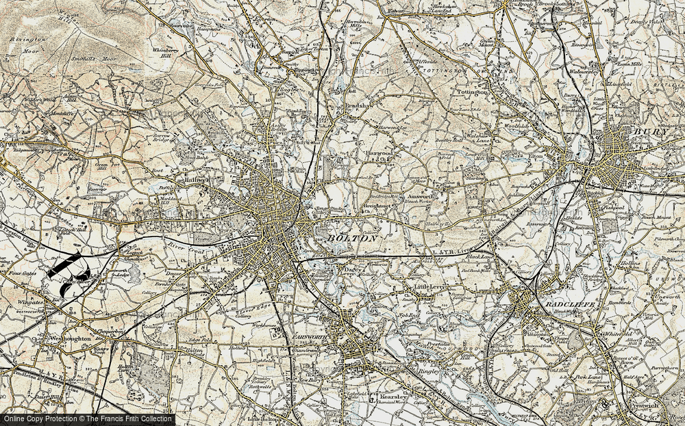 Old Map of Tonge Fold, 1903 in 1903