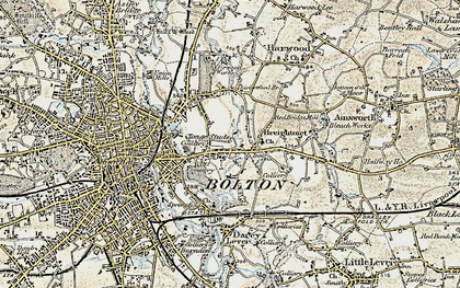Old map of Tonge Fold in 1903
