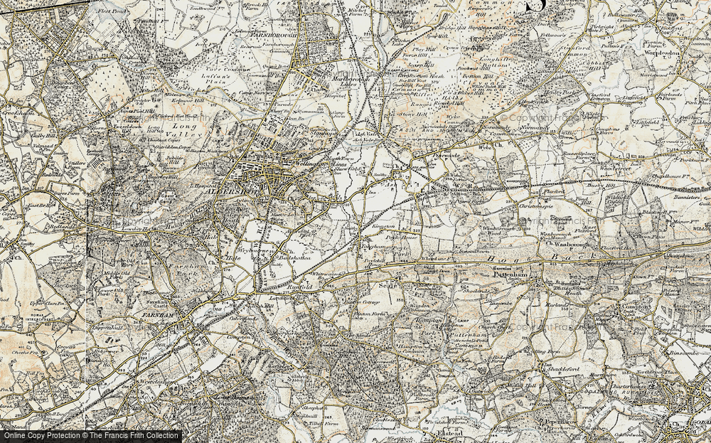 Old Map of Tongham, 1898-1909 in 1898-1909