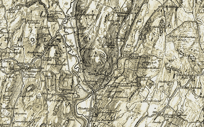 Old map of Bar Hill in 1905