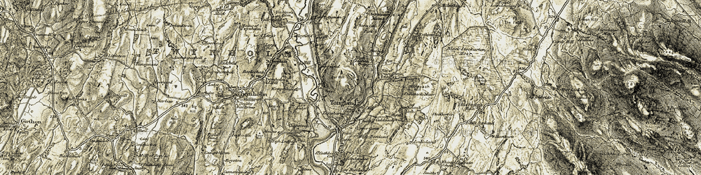 Old map of Tongland in 1905